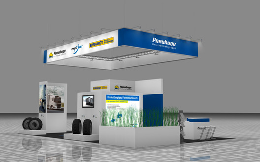 Messestand transport logistic